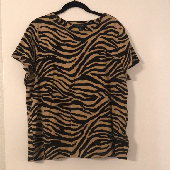 a942d67b02ae Lauren Ralph Lauren Tops | Brand New Ralph Lauren Tiger Print Top ...